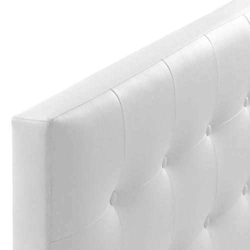 Emily Queen Upholstered Vinyl Headboard in White