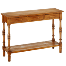 Honey Stain Console Table with Drawers