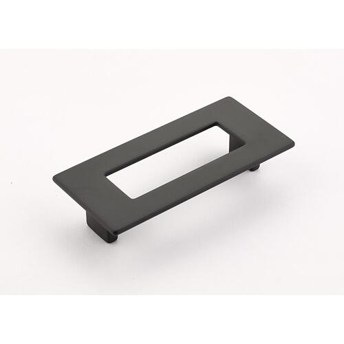 Finestrino, Pull, Rectangle, Matte Black, 96 mm cc