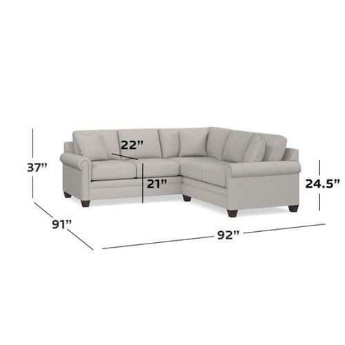 Bassett Furniture - Carolina Panel Arm L-Shaped Sect