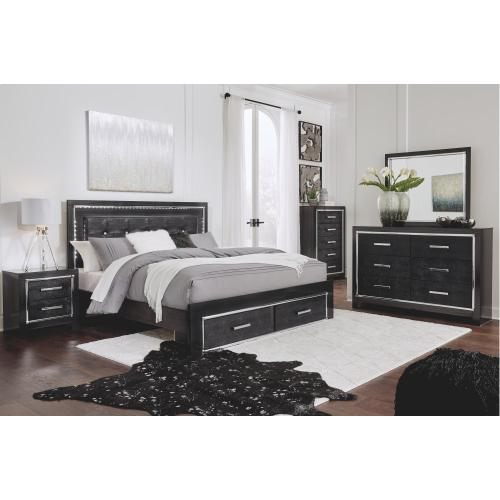 Kaydell King Upholstered Panel Bed With Storage