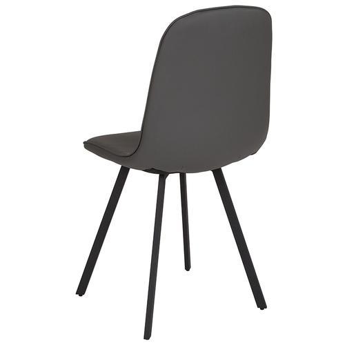 Argos Contemporary Dining Chair in Light Gray Vinyl