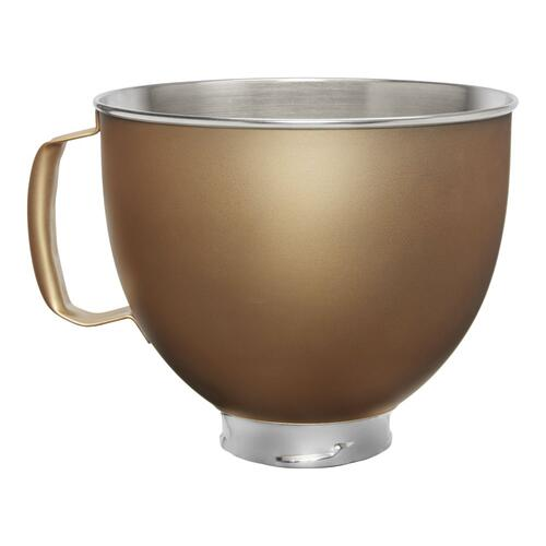 5 Quart Tilt-Head Metallic Finish Stainless Steel Bowl - Gold