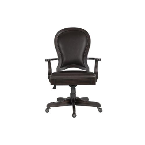 Leather Desk Chair - Kohl Black Finish
