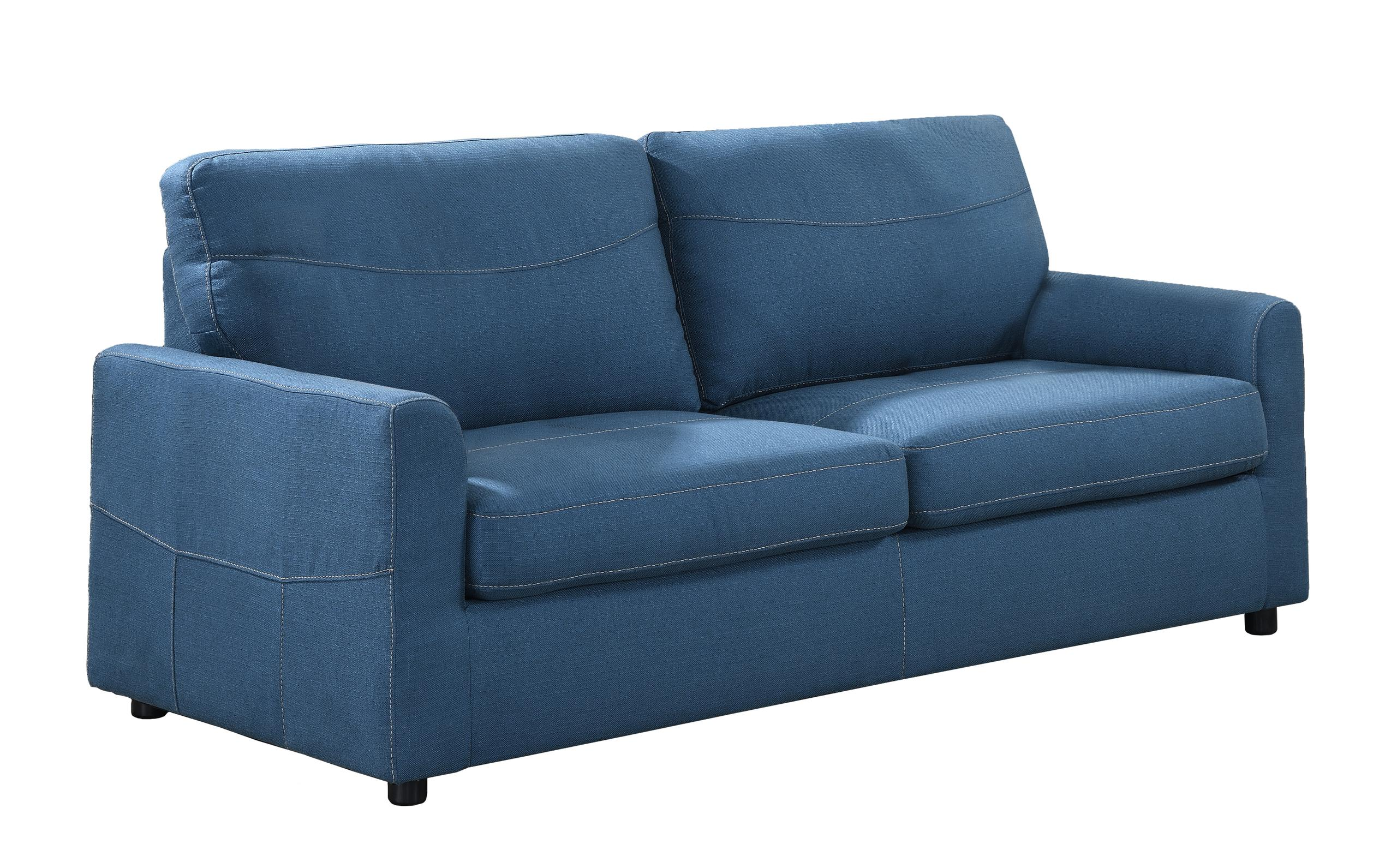 Emerald Home FurnishingsSlumber Queen Sleeper Sofa, Blue U3215-50-24