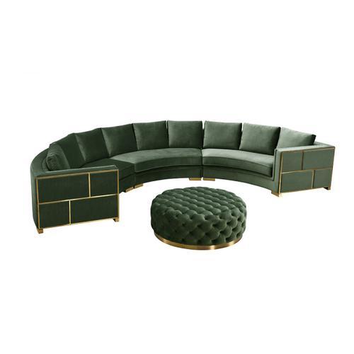 Divani Casa Ritner Modern Green Velvet Ottoman