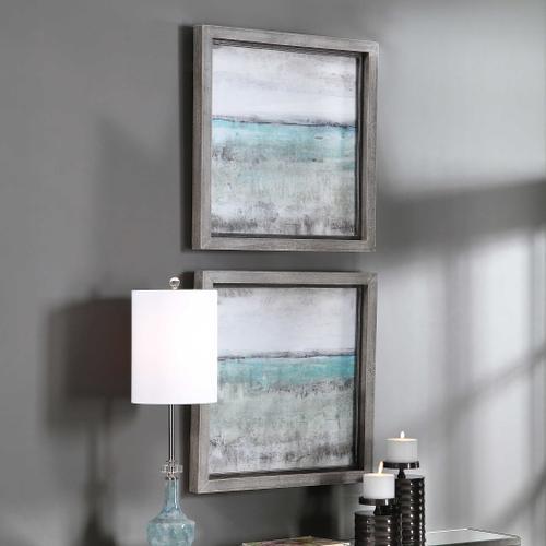 Product Image - Aqua Horizon Framed Prints, S/2