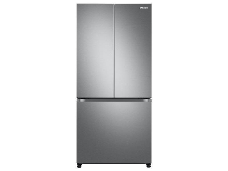 Samsung18 Cu. Ft. Smart Counter Depth 3-Door French Door Refrigerator In Stainless Steel