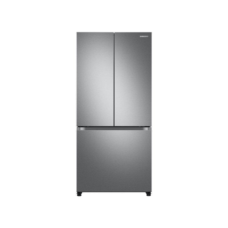 18 cu. ft. Smart Counter Depth 3-Door French Door Refrigerator in Stainless Steel