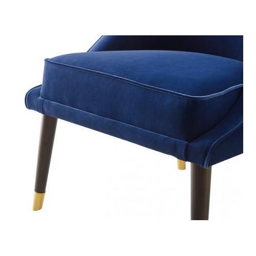 Avalon Velvet Accent Chair - Navy