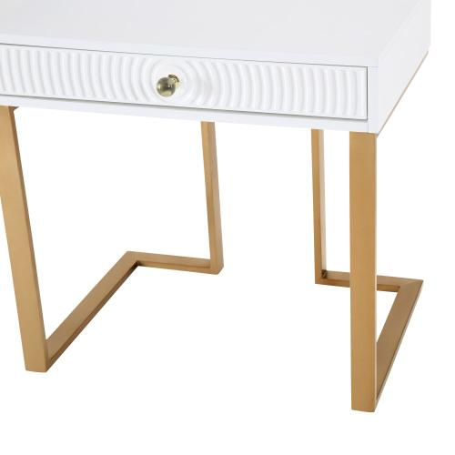 Janie White Lacquer Side Table