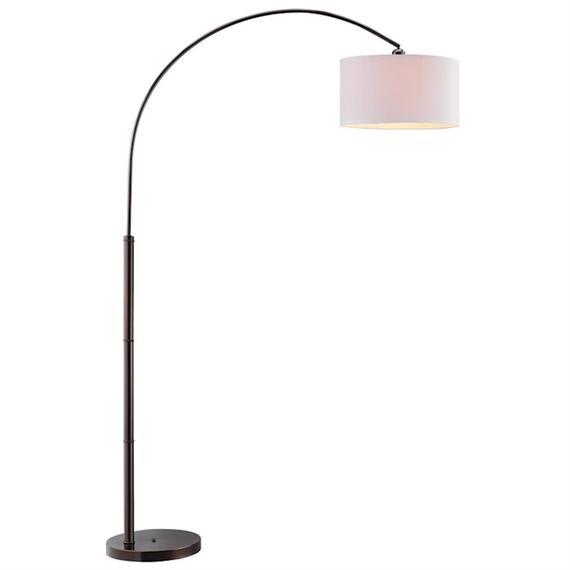 Archy Arc Floor Lamp In Dark Brown