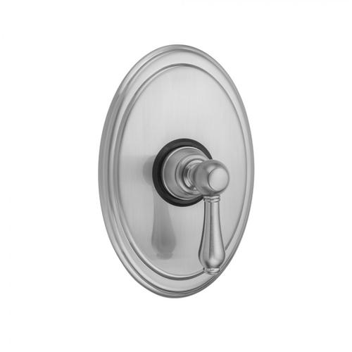Polished Brass - Oval Plate With Regency Lever Trim For Pressure Balance Cycling Valve (J-CSV)