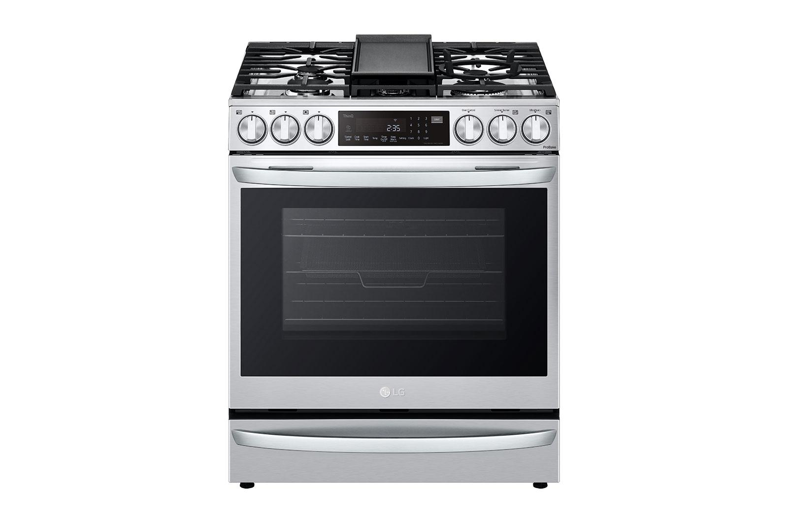 6.3 cu ft. Smart Wi-Fi Enabled ProBake Convection® InstaView™ Gas Slide-in Range with Air Fry