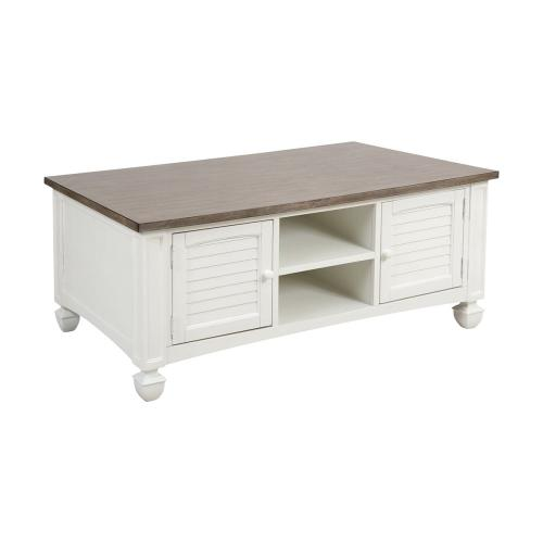 Stein World - Nantucket 2-door Coffee Table In White With Baskets