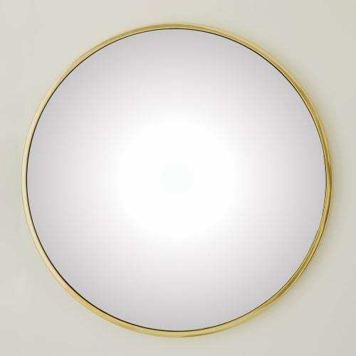 Hoop Convex Mirror-Brass-Lg