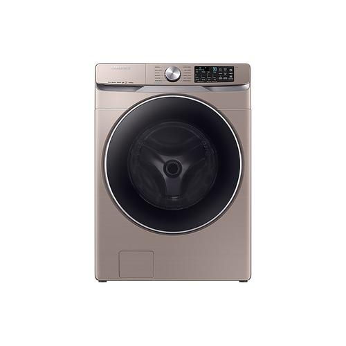 Samsung - 4.5 cu. ft. Smart Front Load Washer with Super Speed in Champagne