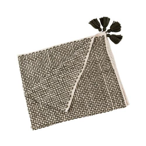 Paris Cotton Black/White Throw