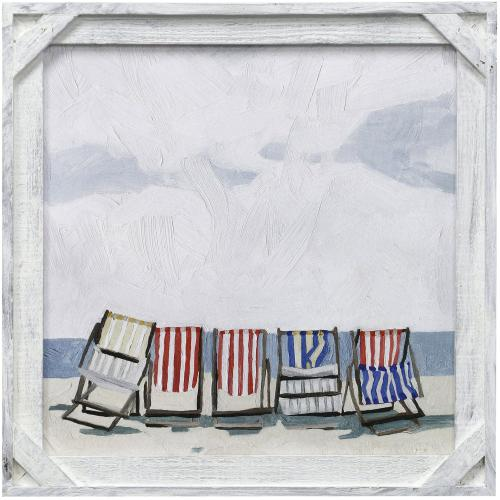 Style Craft - BEACH TRIP I  20in X 20in  Made in the USA  Textured Framed Print