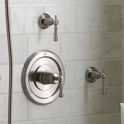 Dxv - Randall 1/2 Inch or 3/4 Inch Wall Valve Trim with Lever Handle - Brushed Nickel