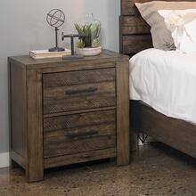 Dajono Rustic Brown Finish Pine Wood 2-drawer Nightstand