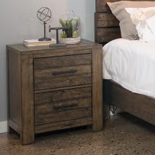 See Details - Dajono Rustic Brown Finish Pine Wood 2-drawer Nightstand