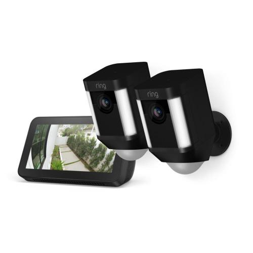 Ring - 2-Pack Spotlight Cam Battery with Echo Show 5 - Black