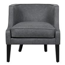 Upholstered Arm Chair Pellini Thunder Lthr