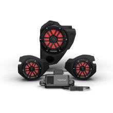 View Product - Ride Command® 2-Way Interface, 800 Watt, Front Color Optix™ Speaker & Subwoofer Kit for Select Polaris® RZR® Models (Gen-3)