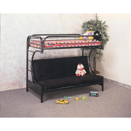 "Black Futon Bunkbed 80""L x 46""D x 65""H FM46-6BLK 6"" Black Full Futon Mattress FM46-8BLK 8"" Black Full Futon Mattress"