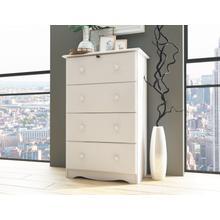 See Details - 5341 - Four Super-Jumbo Drawer Chest, White