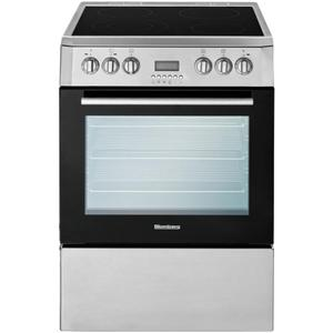 "Blomberg Appliances24"" Electric, convection w/fan and circular element, smooth top 4 zone, stainless"