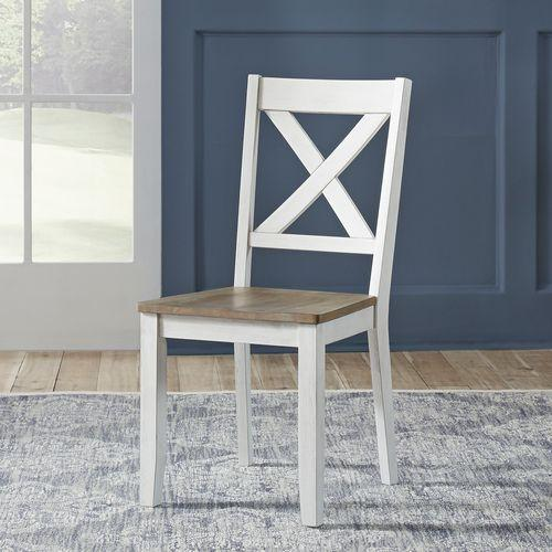 Liberty Furniture Industries - X Back Side Chair- White (RTA)