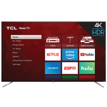"""See Details - TCL 75"""" Class 4-Series 4K UHD HDR Roku Smart TV - 75S423"""