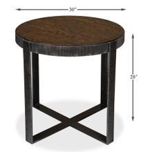 Ragsdale Side Table, Burnt Brown Oak
