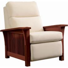 Wall Recliner Bustle Back Upholstery, Oak Spindle Morris Recliner