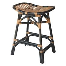 Damara Rattan Counter Stool, Black