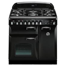 """See Details - Black with cathedral doors AGA Legacy 36"""" Dual-Fuel Range"""