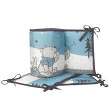 Disney Baby Forever Pooh Blue/White Bear 4-Piece Baby Crib Bumper
