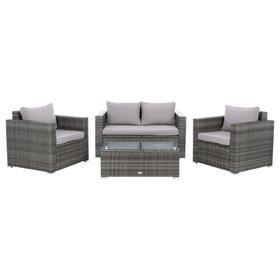 Machie 4pc Living Set - Grey / Grey