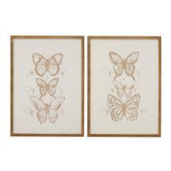 2 Pc Butterfly Sketch