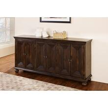 Ellis 4-Door Credenza in Walnut Finish