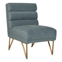 Kelly Slub Blue Velvet Chair