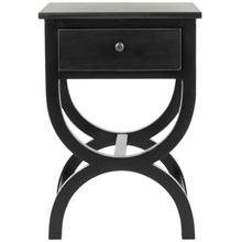See Details - Maxine Accent Table With Storage Drawer - Black