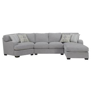 Emerald Home Analiese 3pc Sectional Linen Gray