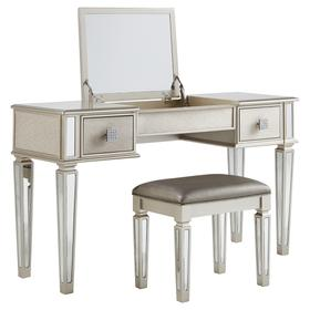 See Details - Lonnix Vanity With Stool