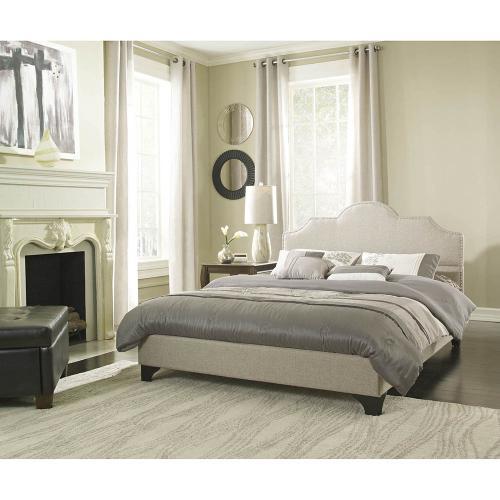 Hanover Mattress Paris Linen Tufted Full Platform Bed Frame, HBEDUPPARI-LN-FL