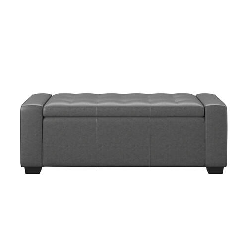 Gavyn Upholstered Storage Bench, Charcoal U3310-36-03