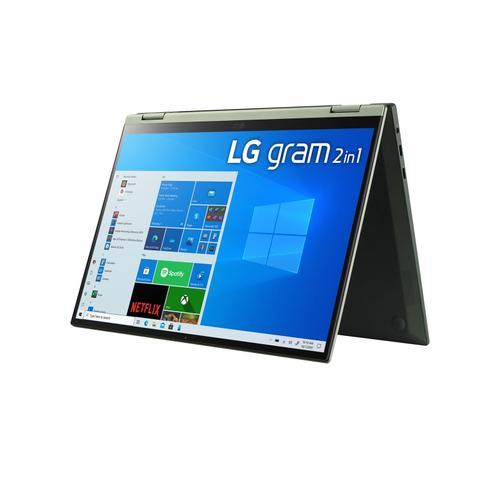 LG - LG gram 16'' 2-in-1 Ultra-Lightweight Laptop with Intel® Evo 11th Gen Intel® Core™ i5 Processor and Iris® Xe Graphics