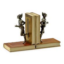 Pair of Antique Dark Bronze Elf Bookends
